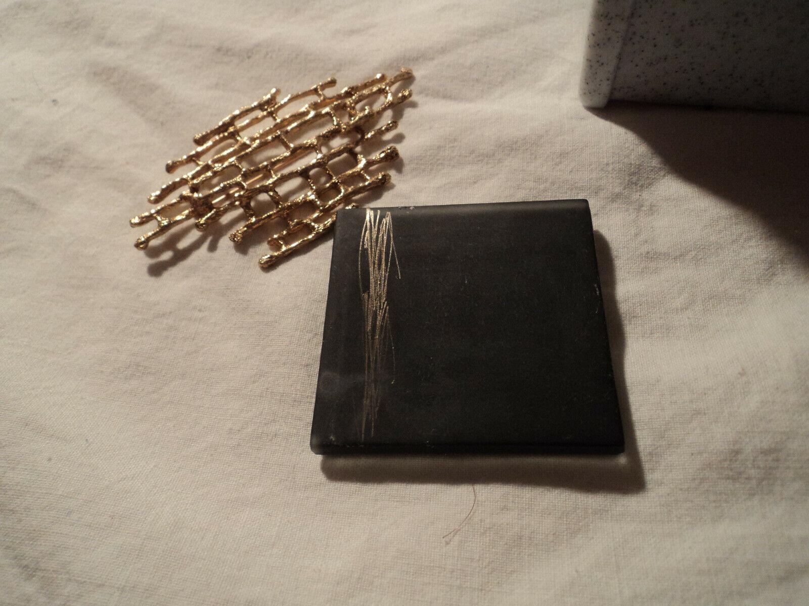 Handmade 10 K Y gold  Bambo brooch acid tested 1… - image 4