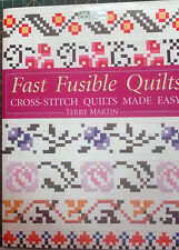 """QUILT BOOK, """"FAST FUSIBLE QUILTS"""",CROSS-STITCH QUILTS MADE EASY - FREE SHIPPING"""