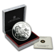 2014 1 oz Silver Canadian $15 Lunar Year of the Horse Coin - Box and Certificate
