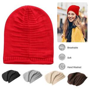 afc19547d60 Unisex Knit Beanie Hat Winter Warm Hat Slouchy Baggy Hats Skull Cap ...