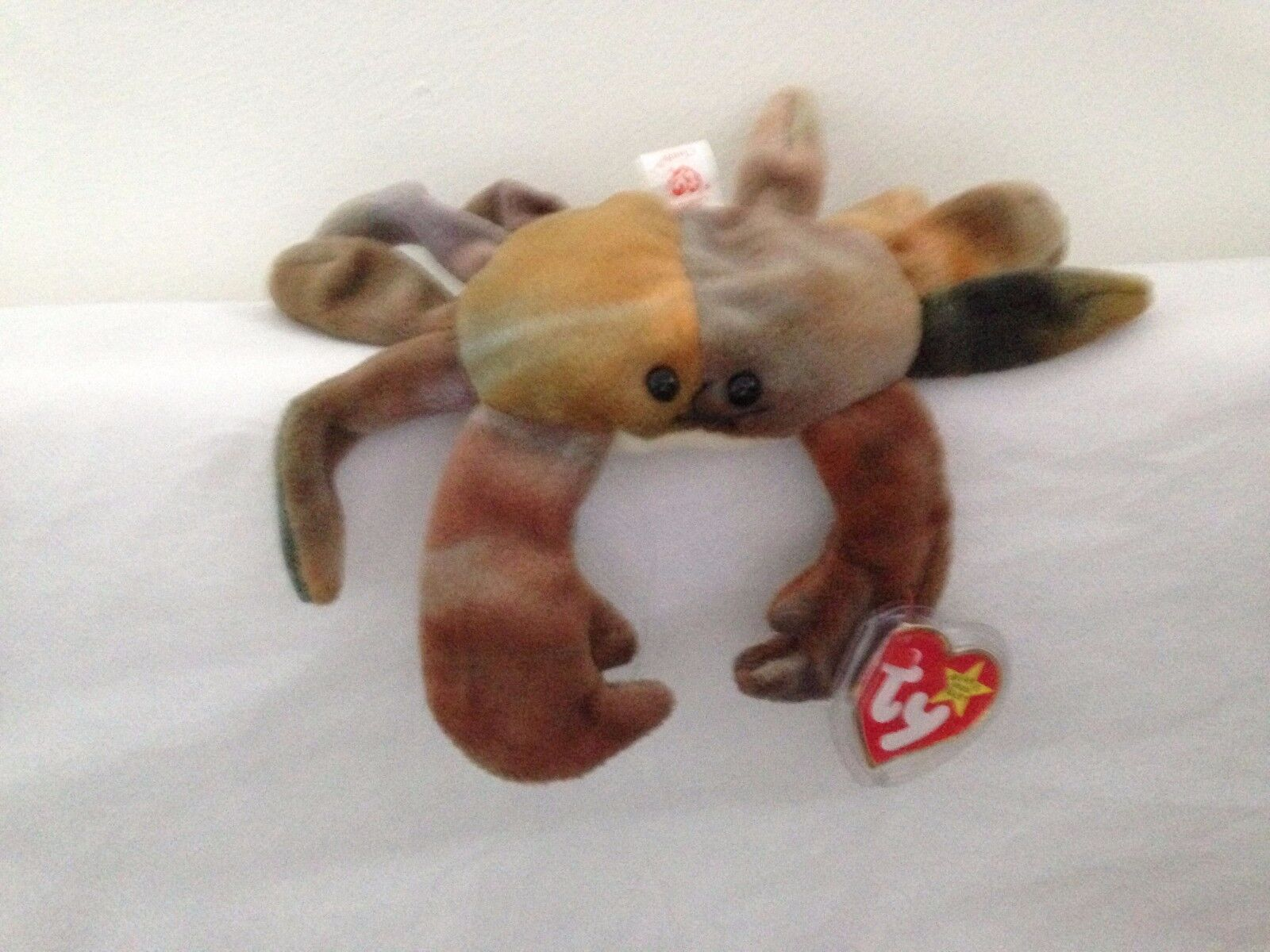 TY Beanie Babies - Claude The The Claude Crab 1996 PVC Pellets Very Rare  with Tag 348bf6f32c6e
