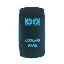 Laser Waterproof Rocker Switch Push Button Blue LED COOLING FANS Backlit