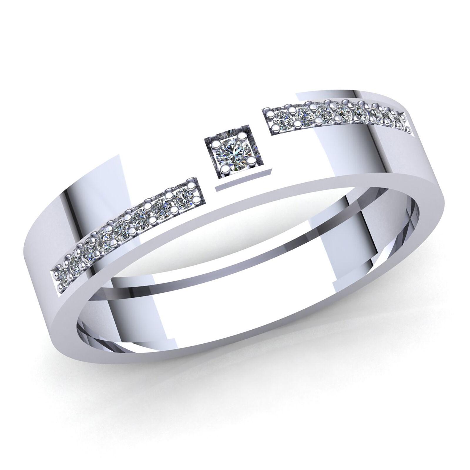 Genuine 0.33ctw Round Cut Diamond Mens Accent Fancy Anniversary Ring 14K gold