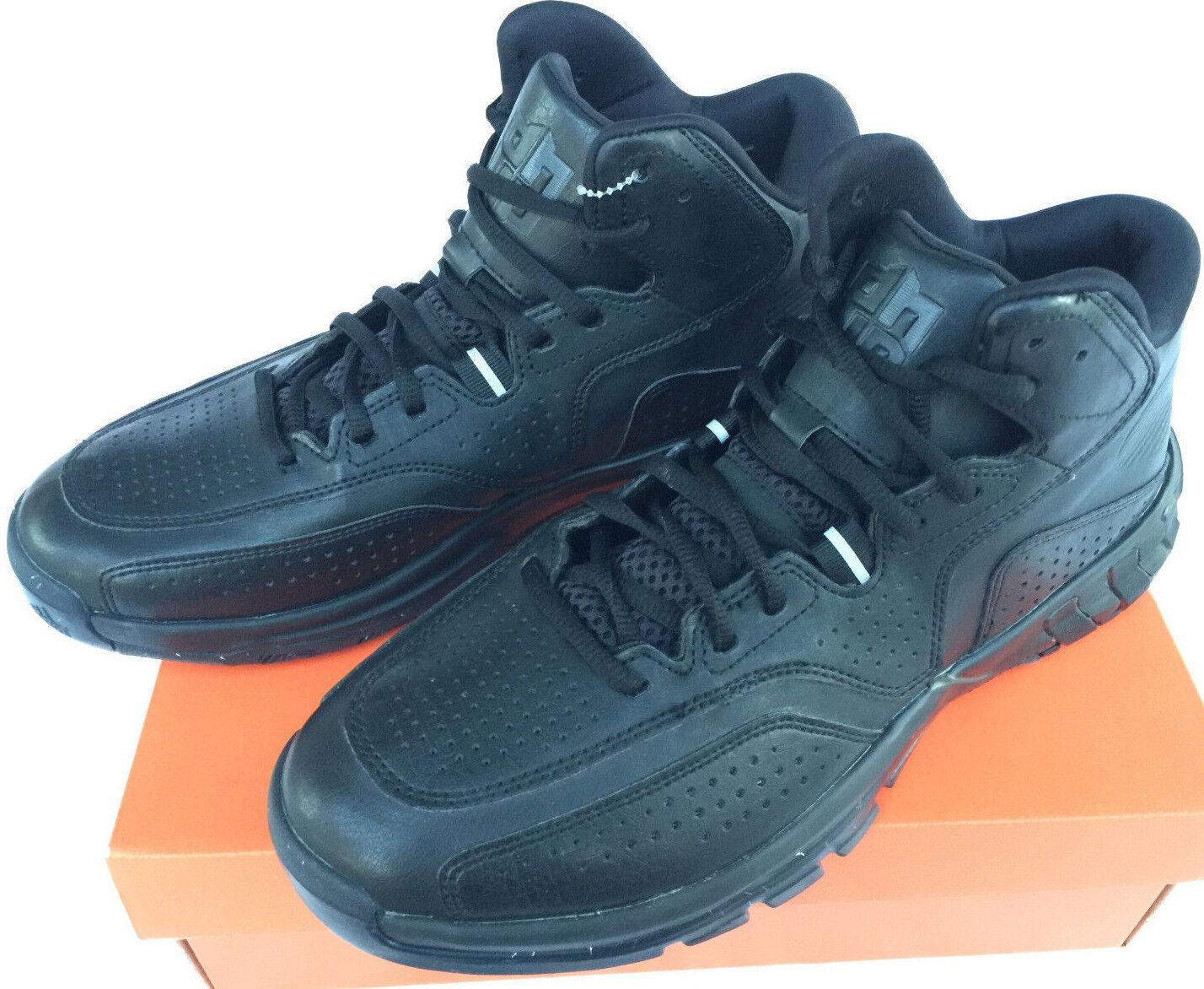 Adidas D Howard 6 Black D69945 Murdered Leather Basketball shoes Men's 11 Hawks