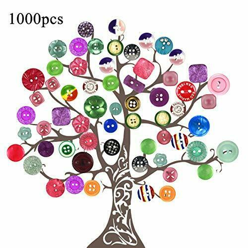 Mezcla Resina Botones Multi-estilo con 1 1000 un Assorted Botones Para Manualidades
