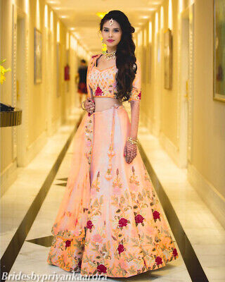 Pakistani Wedding Indian Wear Lengha Designer Party Bridal Ethnic Lehenga Choli