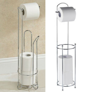 Beautiful Image Is Loading FREE STANDING CHROME TOILET PAPER LOO ROLL STORAGE
