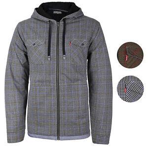 Levi-039-s-Men-039-s-Sherpa-Lined-Long-Sleeve-Flannel-Zip-Fleece-Hoodie-Sweater-Jacket