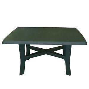 Balkontisch Kunststoff.Details Zu Gartentisch 138x88xh72cm Campingtisch Beistelltisch Balkontisch Kunststoff Grün
