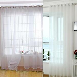 Image Is Loading White Sheer Window Curtains Gauze Voile Tulle