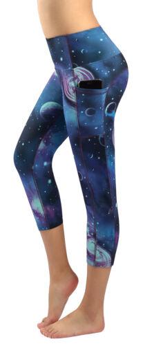 Women/'s Yoga Capri Pants Exercise Pants Workout Running Leggings With Pockets