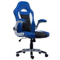 GoPlus PU Leather Executive Racing Style Bucket Seat Chair - Black