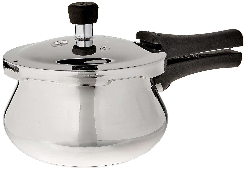 Prestige Deluxe Alpha Stainless Steel Pressure Cooker Baby Handi- 2 Litre