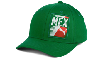 MEXICO-PUMA-COUNTRY-Flexfit-Stretch-Fit-Green-Cap-Hat-Size-S-M