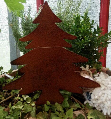 Edelrost sapin arbre Beetstecker Jardin Connecteur Marron 14 cm Maison de campagne shabby