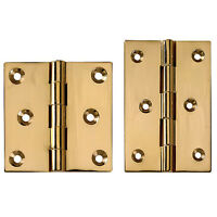 Polished Brass Fixed Pin Hinges 2-1/2 Lx 2-1/2 W