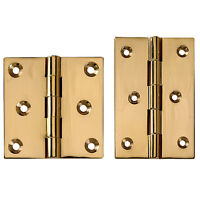 Polished Brass Fixed Pin Hinges 2-1/2 Lx 2-1/2 W on sale