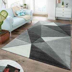 Tapis Moderne Poils Ras Pour Salon Contours Decoupes Design Triangle