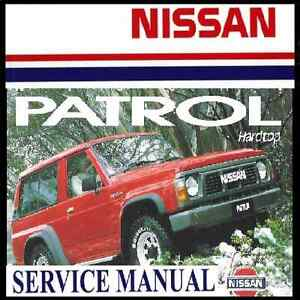nissan patrol gq y60 series 1987 1994 tb42 td42 workshop service rh ebay com au nissan patrol y60 workshop manual pdf nissan patrol y60 workshop manual