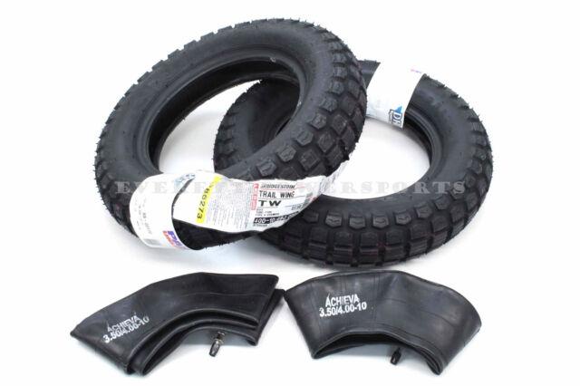 New Bridgestone Trail Wing TW Universal Tires Tubes Set 4.00-10 Fits CT70 #A95