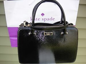 Image Is Loading New Kate Spade Black Patent Leather Lise Bixby