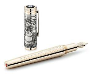 MONTBLANC Chinese Zodiac The Rat Fountain pen LE 512 18K med nib NEW Year 2020