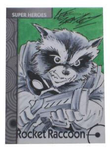 2013-Fleer-Marvel-Retro-Rocket-Raccoon-Artist-Sketch-Card-Lee-Bradley-1-1