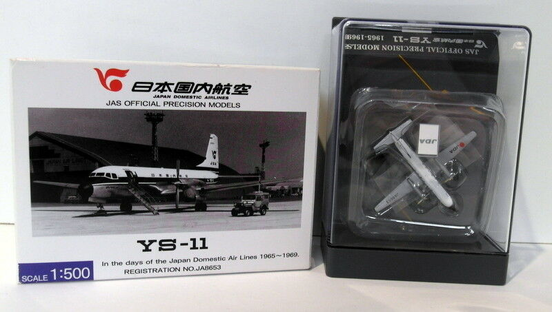 JAS 1 500 Scale Diecast - YS51107 YS-11 Japan Airlines 1965-69  JA8653