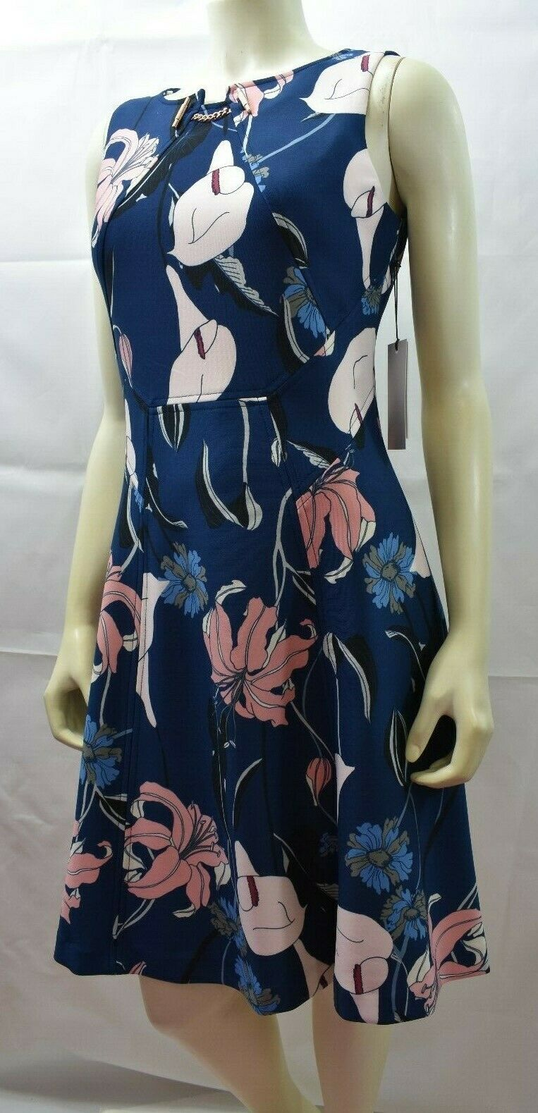 IVANKA TRUMP SCUBA FLORAL DRESS SZ 4 NEW WITH WITH WITH TAG 017cfa