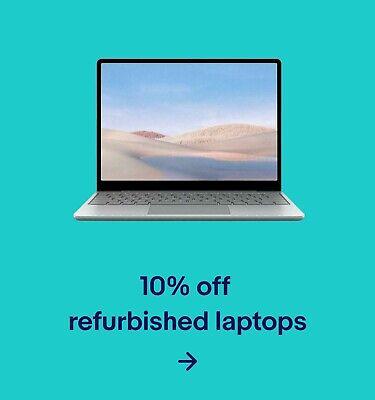 10% off refurbished laptops