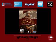Total War Rome II-Emperor Edition PC Steam Key Codice Game NUOVO spedizione LAMPO