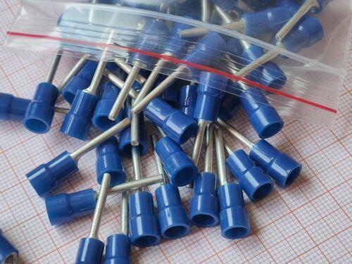 20 Stück Weitkowitz Stiftkabelschuh 1,5-2,5mm² blau teilisoliert Klemmstift