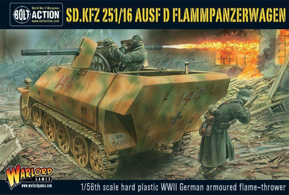 Warlord Games Sd. Tank 251 16 Version D Flammenpanzerwagen 28mm WWII Bolt