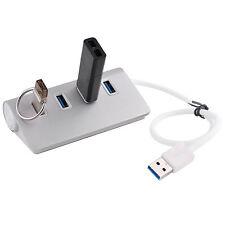 4-Port USB 3.0 Multi HUB Splitter Aluminum Adapter High Speed For Laptop Mac PC