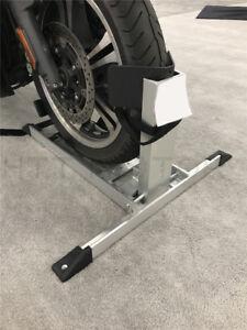 Portable Aluminium Alloy Motorcycle Wheel Chock Floor Stand 2400lb