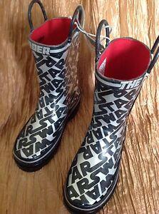 Disney Store Star Wars Rain Boots Size 12 Boys Rainboots Kylo Ren ... 6ff39198fb3f