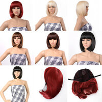 Bob Style Wig Cosplay Disco Party Short Straight Bang Hair Full Wigs Gift