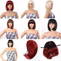 Bob Style Wig Cosplay Disco Party Short Straight Bang Hair Full Wigs Gift