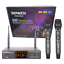 thumbnail 1 - SONKEN WM2500 2X PROFESSIONAL UHF WIRELESS MICROPHONES WITH LED MIC FREQ DISPLAY