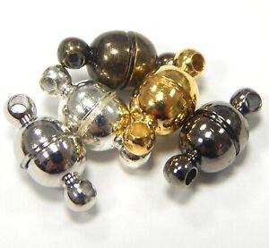 Magnet-Verschluss-11-x-5-mm-5-Farben-5-stk-Rund-Schmuck-Kettenverschluss-M402