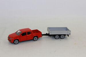 Siku-3543-pick-up-con-trailer-de-almacenamiento-1-55-nuevo-en-OVP