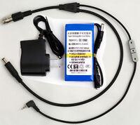 12 Pin Hirose Y-cable For Panasonic Af100 + 6800mah Battery Power 2/3 B4 Lens