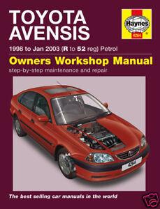 haynes manual toyota avensis petrol 1998 2003 new 4264 ebay rh ebay co uk toyota yaris haynes manual pdf toyota haynes manual