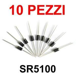 10 pezzi Diodo SR5100 SB5100 SR 5100