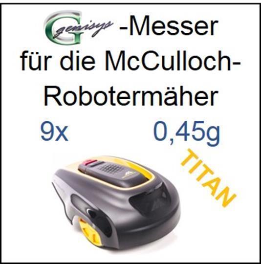 9 TITAN Messer Ersatzmesser Klingen 0,45mm für McCulloch Rob R600 R1000 Mc Cullo