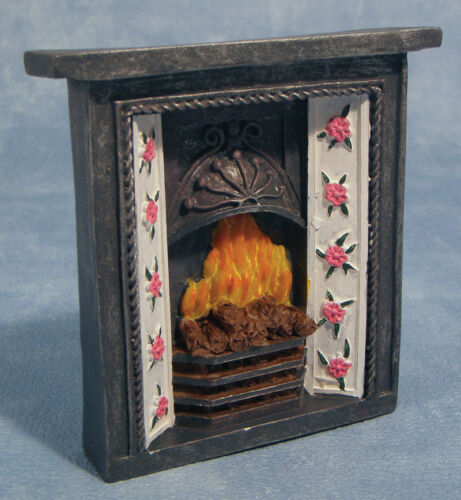 Dolls House 12th Scale Fireplace and Fire DF610