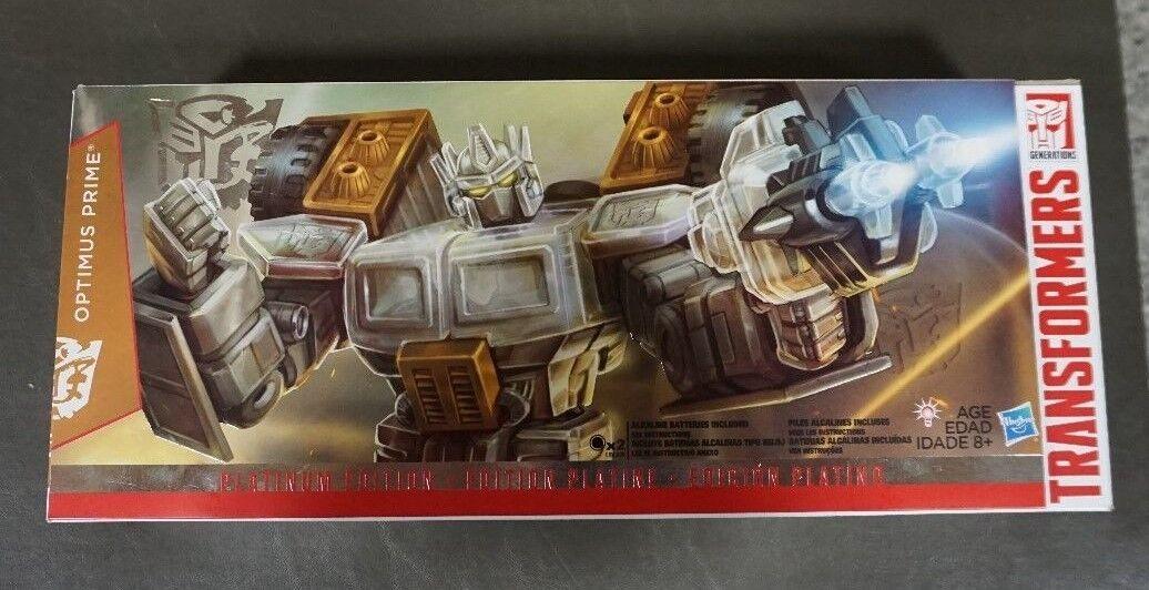Optimus Transformers Prime 2015 Año de la cabra Platinum Edition Auténtico
