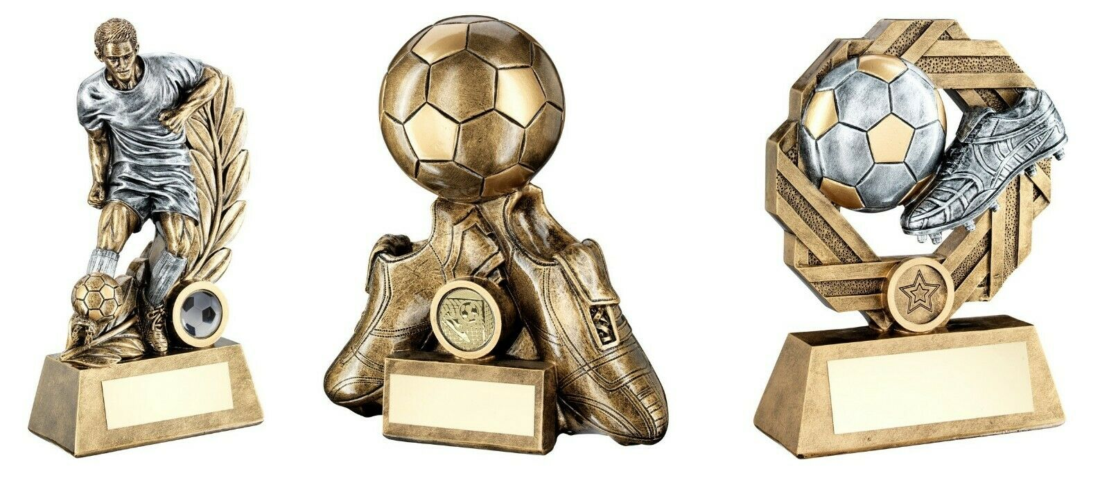 6,7 & 8 inch Football Trophy Awards engraved post free (RRP .24)