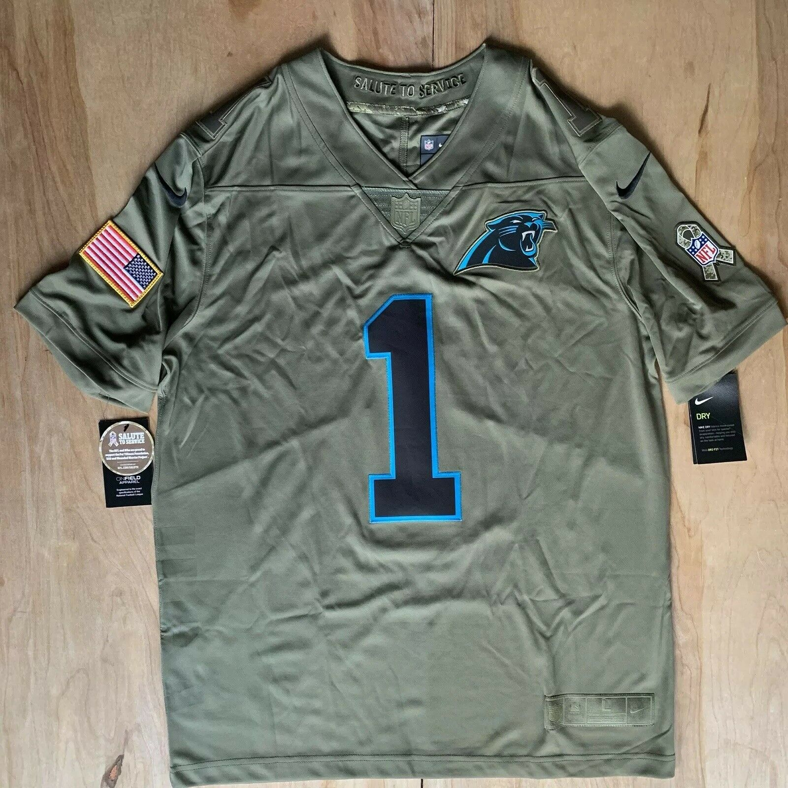 panthers salute to service jersey