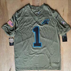 Cam Newton Carolina Panthers Salute To Service Limited Jersey - Olive